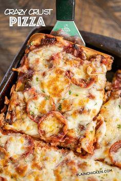 Pizza Recipes, Casserole Recipes, Pizza Casserole, Cooking Recipes, Spaghetti Casserole, Flatbread Recipes, Cooking Food, Baked Cream Cheese Spaghetti, Baked Spaghetti