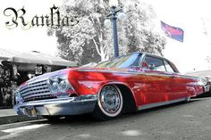 62 Impala pimpin the old Skool wheels 1962 Chevy Impala, 64 Impala, Chevrolet Chevelle, Donk Cars, American Classic Cars, Low Low, Low Rider, Sweet Cars, Bowties
