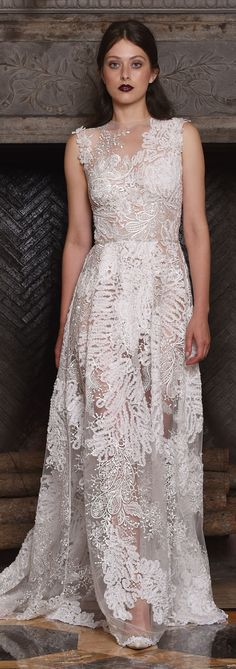Snow couture wedding dress by Claire Pettibone from The Four Seasons collection