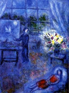 Marc Chagall. Artist and His Model. 1970-75