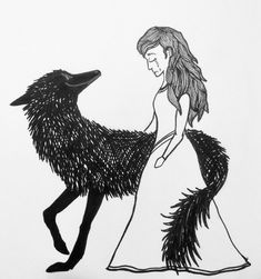 Pain, wolf, art, sketch, pen, idea, sadness, hurting, grief, depression