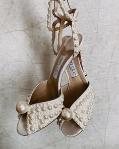 21 Most Wanted Wedding Shoes For Bride & Bridesmaids ❤ wedding shoes with pearls vintage with heels truvelle #weddingforward #wedding #bride