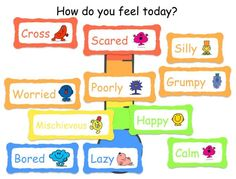 Lovely resource using Mr. Men to explore emotions. http://www.ianbean.co.uk/resources/docstore
