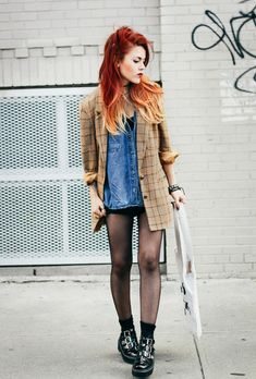 Shirt - ASOS; Blazer - Vintage; Buckled boots - Romwe; Mini dress - Romwe