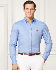 Classic Oxford Sport Shirt - Purple Label Standard Fit - RalphLauren.com