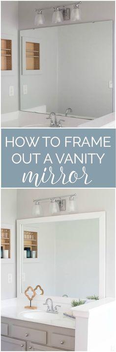 Etonnant How To Frame A Bathroom Mirror   Easy DIY Project