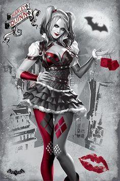 Zinogre Cosplay Batman: Arkham Knight - Gaming Poster / Print (Harley Quinn) (Size: x - PosterSize: x Batman Arkham Knight, Héros Dc Comics, Comics Girls, Harley Quenn, Harley Quinn Et Le Joker, Harley Quinn Halloween, Nanu Nana, Der Joker, Es Der Clown