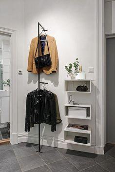 Favorite Studio Apartment Storage Decor Ideas And Remodel - master closet left side wall - Hallway Inspiration, Interior Inspiration, Design Inspiration, Small Apartments, Small Spaces, Small Rooms, Scandinavian Apartment, Scandinavian House, Gravity Home
