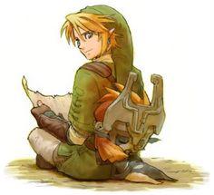 Link and Midna - The Legend of Zelda: Twilight Princess; fan art