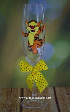 Pahar pictat manual Tiger - Winnie the Pooh