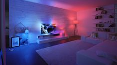 Best Philips Hue Scene Images - Hue Home Lighting Phillips Hue Lighting, Smart Lights, Philips Hue, Gaming Room Setup, Game Room Design, Aesthetic Rooms, Deco Design, Home Automation, Cool Lighting
