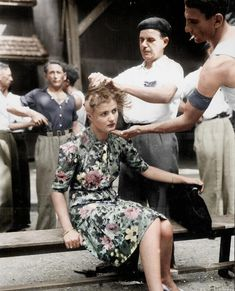 Punishment for involvement with a Nazi, France.