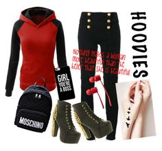 """""""Hoodies-- Be a boss"""" by e-junkbin ❤ liked on Polyvore featuring Balmain, Jeffrey Campbell, Moschino, Vans, contest, beautiful, boss and Hoodies"""