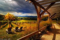 The view from Hillsborough Vineyards, Loudoun Co. (photo credit: Tom Lussier)