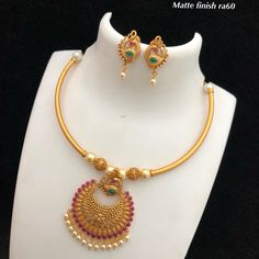Temple Jewellery available at AnkhJewels for booking WhatsApp on Gold Chain Design, Gold Bangles Design, Gold Jewellery Design, Gold Temple Jewellery, Gold Jewelry, India Jewelry, Beaded Jewelry, Gold Jhumka Earrings, Gold Necklace
