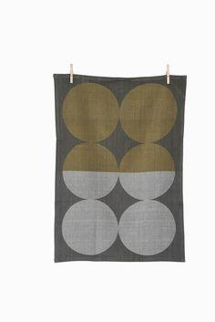 ferm living shop | moon (gray) tea towel