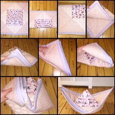 How to fold the babyblanket to a ship ☺