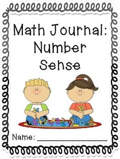 Kindergarten Math Journals: Number Sense
