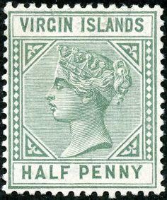 "British Virgin Islands  1883 Scott 13 ½d green ""Victoria"" Wmk 2"