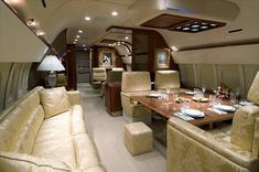 private jets interior...dream travel to go with the dream home, lol