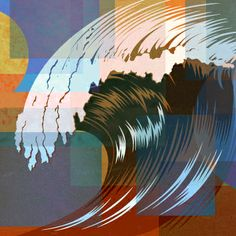 Waves 01- Vector Stock Art from TheVectorLab by The Vector Lab , via Behance