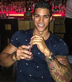 Guys with nice smiles Fine Black Men, Gorgeous Black Men, Cute Black Guys, Handsome Black Men, Fine Men, Beautiful Boys, Cute Guys, Fine Boys, Black Man