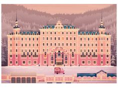 Grand Hotel Budapest My Image for the Wes Anderson themed show 'Unpaid Interns' at NOFUN Gallery Mac Wallpaper Desktop, Laptop Wallpaper, Wallpapers, Grand Budapest Hotel Poster, West Anderson, Summer Drawings, The Villain, My Images, Illustrations Posters