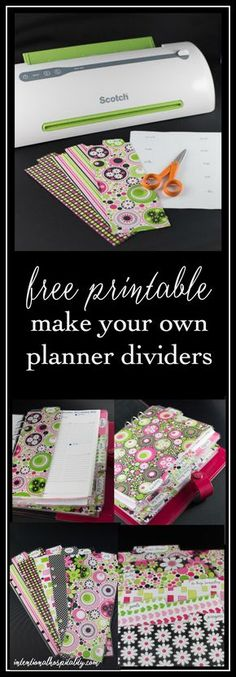 Free printable to help you easily make your own A5 planner dividers and tabs. You can make the full size side tabs or the 1/2 sheet top tabs.