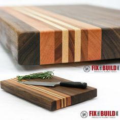 Here's a practical way to put hardwood leftovers or offcuts to use to make a unique chopping board.