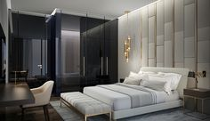 𝒻𝑜𝓁𝓁𝑜𝓌 𝓂𝑒 @𝒮𝒷𝒶𝒷𝑒𝑒3333 Hotel Room Design, Home Design Living Room, Interior Design Bedroom, Bedroom Wall Designs, Luxury Interior, Luxury Bedroom Master, Modern Bedroom, Bedroom Deco, Luxurious Bedrooms