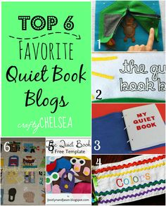 Crafty Chelsea: My Top 6 Favorite Quiet Book Blogs--a great collection of the best places to find quiet book patterns