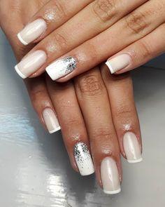 Nail Inspo, Hair Makeup, Nail Art, Nails, How To Make, Beauty, Short Square Nails, Square Gel Nails, White Gel Nails