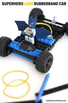 LEGO Rubber Band Car Superhero STEM Book Activity