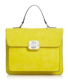 GUESS Handbag, Cordova Top Handle Flap Satchel - Macy's