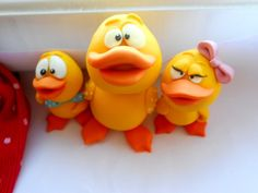 polymer clay miniature/toy  yellow duck