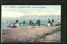 splendide CPA Cannes, pêcheurei, Pecheurs et l´Esterel