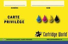 Impression offset cartes de fidelité : Cartridge-World