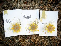 Spring goldenyellow cards  #핸드메이드카드 #스탬프아트카드 #수제카드 #카드메이킹 #로이공작소 #papercraft #stamp #cardmakinghobby #paperarts#distress #gold # yellow
