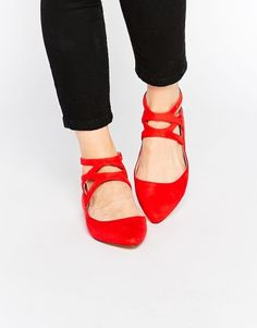 Shop these sassy red shoes from Asos on Keep!