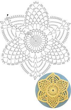 1 million+ Stunning Free Images to Use Anywhere Mandala Au Crochet, Crochet Snowflake Pattern, Crochet Motif Patterns, Crochet Stars, Crochet Snowflakes, Crochet Diagram, Thread Crochet, Filet Crochet, Crochet Doilies
