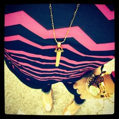 chevron and a pendent necklace.