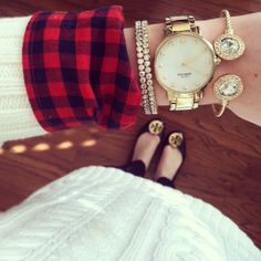 Kate Spade Gold Gramercy Watch - Fall Stack by southerncurlsandpearls.blogspot.com