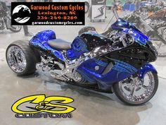 Blue Busa by Garwood Custom Cycles