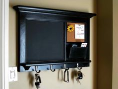 Classic Wall Organizer with Chalkboard
