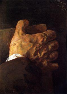 Hand Holding a Book, by Adolph von Menzel - 1864. Height: 25 cm (9.84 in.), Width: 18 cm (7.09 in.). Painting - Gouache. Kupferstichkabinett - Staatliche Museen zu Berlin (Germany)