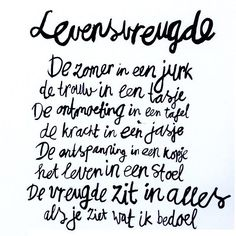 Levensvreugde by Sukha Text Quotes, Words Quotes, Life Quotes, Sayings, Love Words, Beautiful Words, Dutch Words, Dutch Quotes, Powerful Words
