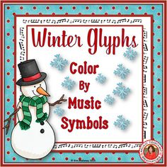 Music Worksheets Winter Color by Music Symbols.   26 in the set!!!  ♫ CLICK through to check them out of save for later!