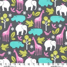 Michael Miller House Designer - Flannels - Zoology in Orchid