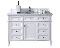 Photo Gallery On Website  Brittany Single Bathroom Vanity White Soft Close Doors Drawers