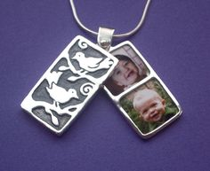 2 to 4 Photos Forest Bird Locket  for Mothers Day, Moms, Grandmothers, Sisters or Daughters by undinejewellery on Etsy https://www.etsy.com/listing/81906018/2-to-4-photos-forest-bird-locket-for